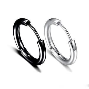 10-20MM Circle Hoop Earrings For Men s Punk Hypoallergenic stainless steel Small Big Round Ear Bone Buckle Earring Fashion Jewelry