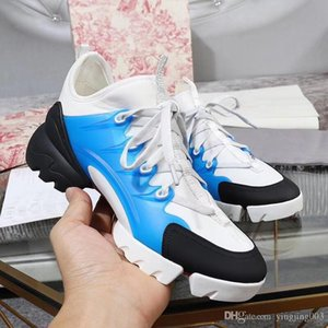 2019 brand fashion luxury designer women shoes Genuine leather high Quality Transparent Casual Lace-up Sneakers for women xt190530