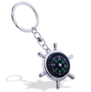 Fashion High Rudder Compass Keychain Multifunctional Compass Mini compass King Ring Pocket Outdoor Gadgets Hiking & Camping Outdoor Gear