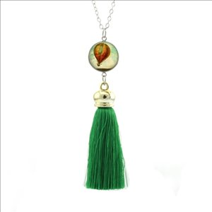 Wholesale New Style Hot Air Balloon Necklace Vintage Jewelry Glass Photo Pendants Women Long Necklaces Bohemian Clothing Accessories