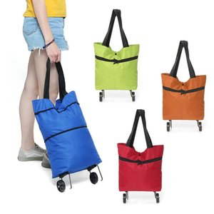 Wholesale Folding Shopping Bag Shopping Cart On Wheels Bag Small Pull Cart Women Buy Vegetables Organizer Tug Package