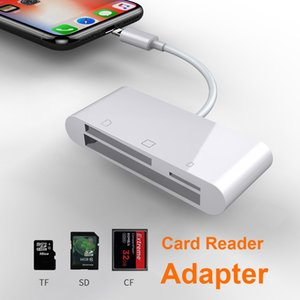 Wholesale 6 in SD TF SDHC CF XD M2 Card Reader for IPhone XS MAX XR in SD TF CF Card Reader for IPhone X S P