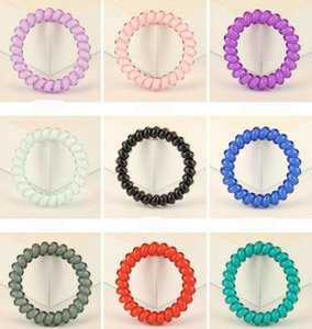 Wholesale 2019 Brand new Candy color hair circle jelly large phone line tie hair rope rubber band head jewelry mix order