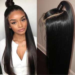 Wholesale Big Sale Lace Frontal Wigs Pre Plucked With Baby Hair Remy Lace Front Human Hair Wigs Peruvian Straight Hair Bob Wigs