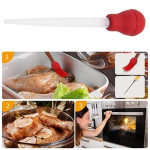 Silicone Oil Seasoning Pump Turkey Baster Chicken Meat Bbq Food Flavour Baster Syringe Tube Pipe Herb & Spice Tools