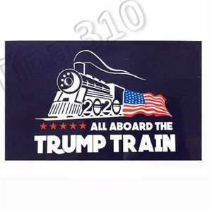 Wholesale New trump car sticker Donald Trump locomotive stickers Train window Sticker Home Living Room Decor Wall Stickers