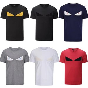 Hot selling Mens Designer T Shirts Fashion Mens Clothing 2019 Summer Casual Streetwear T Shirt Rivet Cotton Blend Crew Neck Short Sleeve
