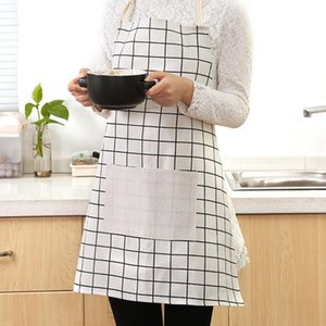 Wholesale Plaid Print Apron Sleeveless Soft Women Home Cooking Apron Kitchen Cooking Accessories Baking Party Cleaning Aprons BC BH0719