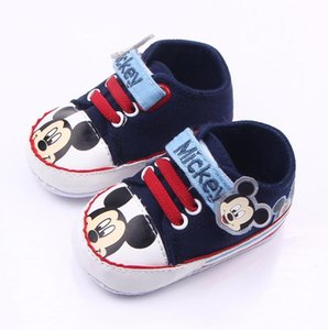 Wholesale Baby Boys Shoes Infant Cartoon Soft Sole Canvas Sneakers Baby Boy Girl Crib Shoes Newborn to Months