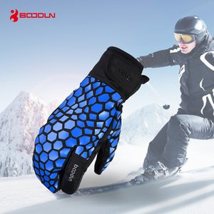 Wholesale ski winter thermal gloves resale online - Touch Screen Ski Gloves for Men Women Waterproof Windproof Winter Snowboard Skiing Gloves Thermal Warm Outdoor Snow Mittens for Boys Girls