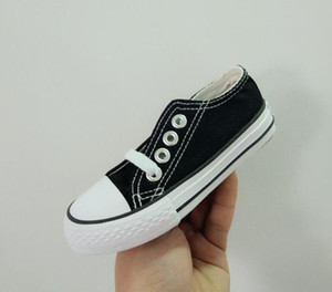 Wholesale 2019 Drop Shipping Kids Colors All Size High Top Sports Stars Low Top Classic Canvas Shoe Sneakers Boy s Girl s Casual Shoes