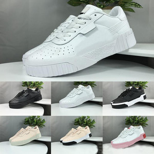 Women Trainers 2019 Clyde Cali Wins Running Shoes Lace UP Triple Pink White Black Designer Luxury Sports Outdoor Shoes Women Sneakers 36-40