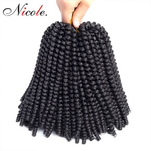 Wholesale twists for hair resale online - Nicole Inch Nubian Twist Crochet Braids Ombre Color christmas Synthetic Braiding Bomb Twist Hair Extension For Black Women
