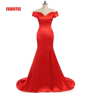 New arrival prom party Dresses Vestido de Festa dress long style satin dress mermaid real photo elegant dress on Sale