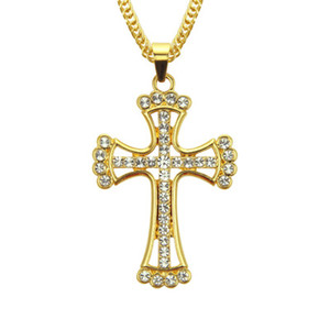 Wholesale Special Offer Designer Necklace Hip Hop Cross Mens Necklace Luxury Diamond Iced Out Pendant Fashion Necklace Jewelry