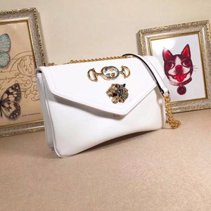 Wholesale New Bag Tiger Head Diamond Shoulder Messenger Bag Toothpick Grain Leather Leather Smooth Autumn Winter Latest Series