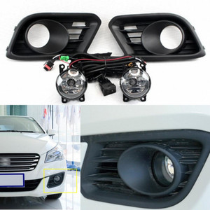 Wholesale Car Front Bumper Fog Lights Driving Lamp w Switch+Harness For Suzuki Alivio 2015 2016