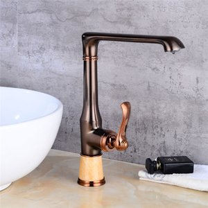 Wholesale 2019 Kitchen Faucets Classic Brass Kitchen Sink Water Faucets ORB Mixer Tap New Design Deck Mounted Sviwel