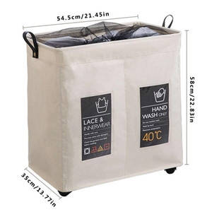 Wholesale Rolling Wheel Corner Durable Laundry Hamper Clothes Storage Basket Bin Organizer Washing Bag
