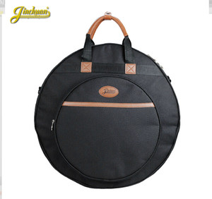 Wholesale Professional thicker Portable shoulders backpack black quot Deluxe Cymbal Bag Carrying Case Drums Cymbals Instrument Gig Cases