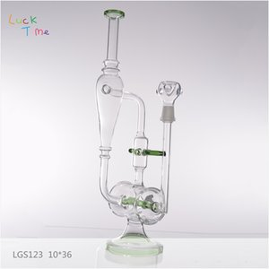 Wholesale Environmental Glass Water Oil Pipe Glass Hookha in Stock Smoking Water Pipes with High End Glass Bongs LGS123