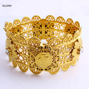 Wholesale French Fashion Ladies Hand Bangles Napoleon Coins Bangle Arabic Wedding Jewelry Bracelet Designer Bracelets for Women Luxury