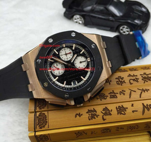 Wholesale japanese quartz chronograph movement for sale - Group buy Factory Supplier Mens Luxury mm Top Quality Maker Japanese quartz movement Ceramic Chronograph black dial Mens Watches