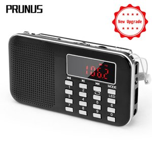 Wholesale PRUNUS L Mini fm radio receiver AM FM SD Card MP3 play Speaker USB AUX portable Emergency radio with Led light antenna