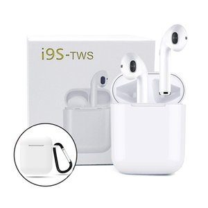 Wholesale i9s tws Earbuds Mini Wireless Bluetooth Earphones for android iPhone Bluetooth Headset v5 Headphones with magnetic charging box
