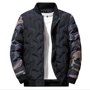 Wholesale Mens Winter designer jacket Long Sleeve New Cotton Coat Men Trend Handsome Casual Down Jackets Thick Mens Zipper Clothes Plus Size Hoodies