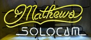 Wholesale Custom New Mathews SoloCam Glass Neon Sign light Beer Bar Sign Send need photo x15 quot