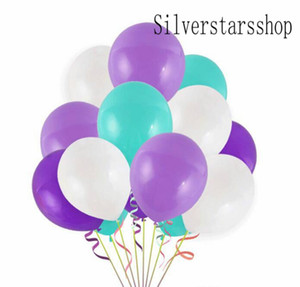 New 16 inch matte Mermaid latex balloon 200pcs lot four color mix latex decorative balloon wedding party theme layout