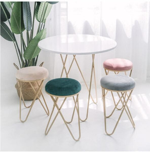 Wholesale art for shoes resale online - Iron Art Cosmetic Bench dressing chair Nordic Restaurant Bench Sofa tea table and stool Ins creative small stool for shoes stools