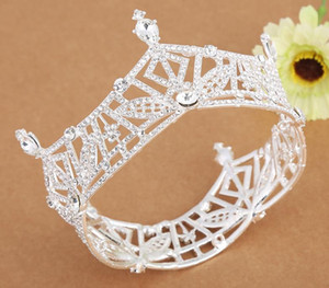 Wholesale Bride ornaments full crown round crown new headdress wedding dress accessories