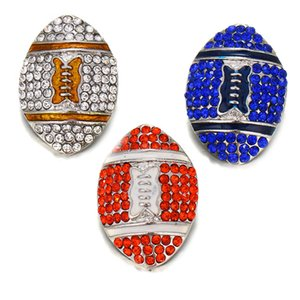 New 18mm Sports Football Team Metal Snap Buttons Jewelry Fit DIY 18mm Snap Bracelet Replaceable Button Jewelry