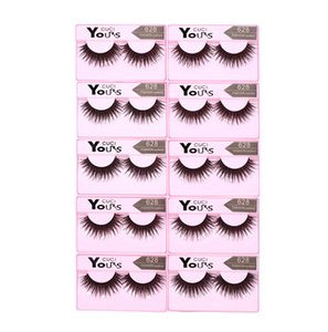 Wholesale 10 Pairs set Eyelashes Lashes Thick HandMade Full Strip Lashes Cruelty Free Korean Mink Lashes Natural False Eyelashes