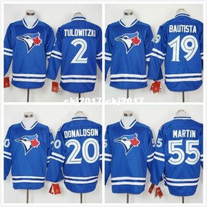 6 Marcus Stroman 11 Kevin Pillar 20 Josh Donaldson 55 Russell Martin Long Sleeves Baseball Pullover Fashion Jersey