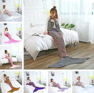 New fashion mermaid blanket imitation cashmere high quality warm blanket comfortable soft knitted blankets home necessities T7I5009