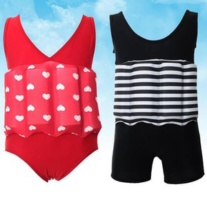 Wholesale 2019 color Floating Buoyancy Swimsuits Baby Boy Girl Swimsuits Detachable Swimwear Training Kids Swimming Float Suits Fashional