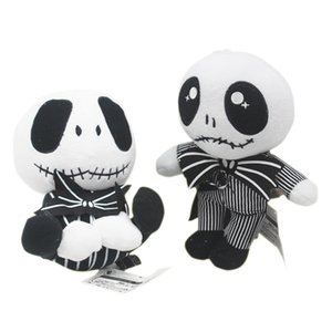 Wholesale 20-23cm 2 styles Halloween Gift The Nightmare Before Jack Skellington in Suit Plush Toy Stuffed Doll Gift for Kids toys