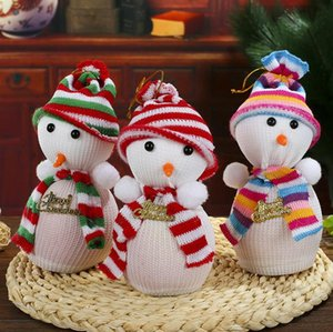 Wholesale Cute Snow Man Cover Apple Small Bags Christmas Dinner Table Party Decoration Supplies Xmas Gifts For Home Family Friend SN1629