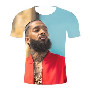 2019 Hot Rapper nipsey hussle Print Short T shirt Men Women Harajuku Hip Hop Short Sleeve T shirt nipsey hussle Cool