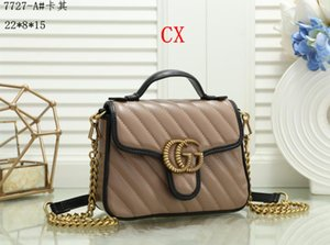 Top Quality 4colors Famous brand women designer Shoulder bag leather chain bag Cross body Pure color womens handbag crossbody bag purse A772
