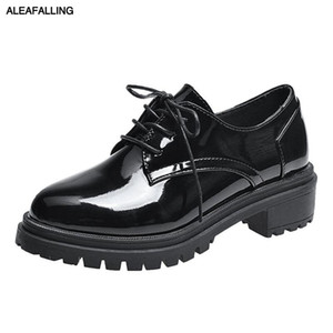 Wholesale Aleafalling Women Boots Lace Up Platform Shinny Leather Party Shoes cm Platform Cute Black Fashion Girls Shoes WBT211