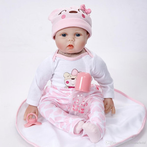 Wholesale Soft Body Lifelike Princess Girl Reborn Doll Inch Realistic Silicone Real Touch Newborn Babies Toy With Clothes Kids Birthday Xmas Gift