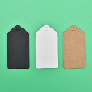 Wholesale kraft price tags resale online - 100 DIY Kraft Paper Tags Brown Lace Scallop Head Label Luggage Wedding Note Blank Price Hang Tag Kraft Gift cm