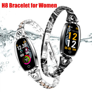 Wholesale home link resale online - H8 Smart Bracelet Women Fashion Sports Wristband Activity Fitness Tracker Heart Rate Monitor Blood Pressure Bracelet Links With Gift Box
