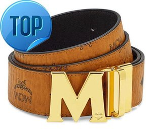 Reversible M Big buckle belts Top Quality Togo Epsom REVERSIBLE Men Belt M Buckle Black Brown Reversible Belt With Box on Sale