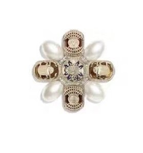 Wholesale fashion luxury women's female's ladies stamped pearl Baroque palace brooches pins with box free shipping