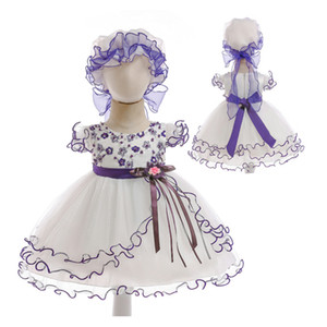 Wholesale Baby Girls dress Korean version Princess dress Baby gauze skirt with cotton lining in short sleeve